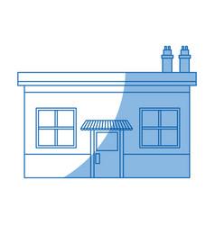 Supermarket building store grocery exterior facade vector