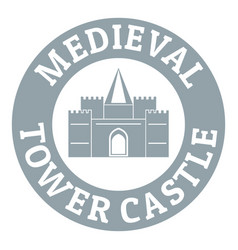 Tower castle logo simple gray style vector