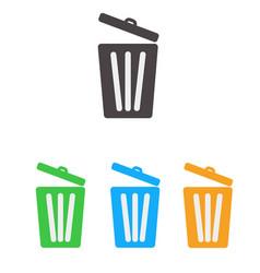 trash icon set bin icon set vector image