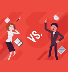 Versus vs business demotivation poster vector