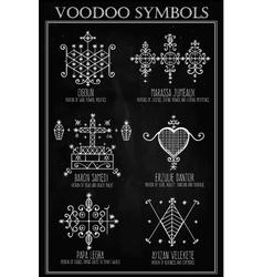Voodoo spiritual dieties symbols set vector image vector image