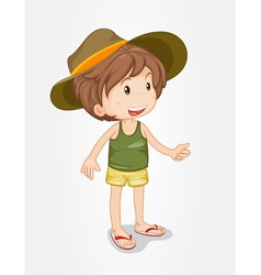 Young boy vector image vector image