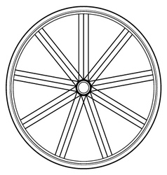 bike wheel isolated on white vector image