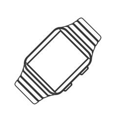Watch gadget time design vector