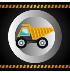 Machinery vehicle construction heavy icon vector