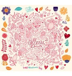 Menu with doodles vector image