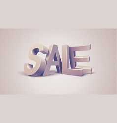 Sale 3d text message vector