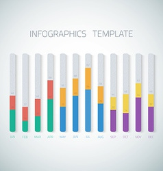 Web infographic timeline bar template layout could vector