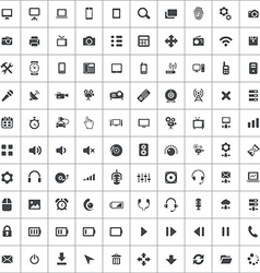 100 device icons vector