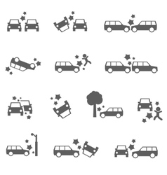 Car crash vector