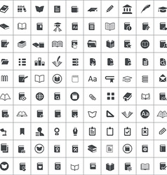 100 books icons vector