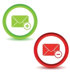 Two mail manage icons vector
