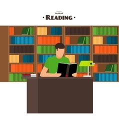 Reading books concept vector