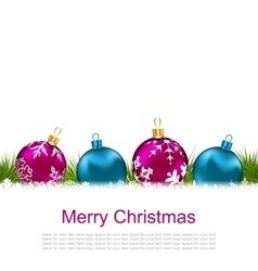 Christmas greeting card with colorful glass balls vector