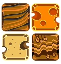 Different materials and textures for game vector