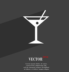 Cocktail martini alcohol drink symbol flat modern vector