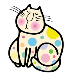 A cute cat cartoon illustration vector