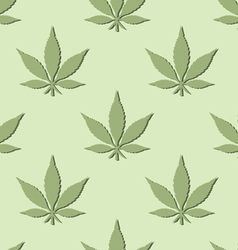 Seamless marijuana leaf pattern vector