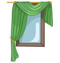 Cartoon home window vector