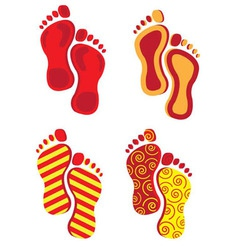 Abstract footprints vector