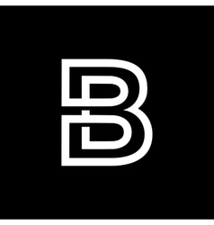 Letter B From the white interwoven strips vector image