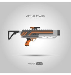 Missile Gun for virtual reality system vector image