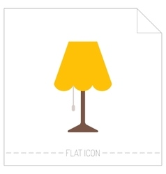 Table lamp flat color icon object of interior vector