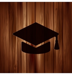 Academic cap icon vector