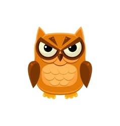 Angry brown owl vector