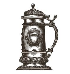 beer mug logo design template Oktoberfest vector image vector image