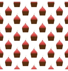 Cake pattern seamless vector