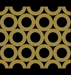 Classic gold patterns with 3d effect on black vector