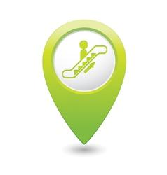 Escalator icon green map pointer vector