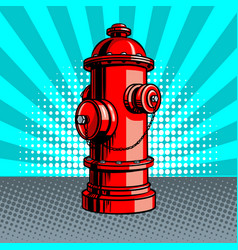 fire hydrant pop art style vector image vector image