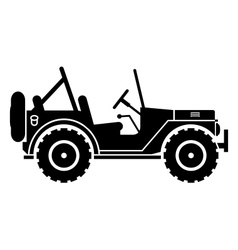 Jeep silhouette vector