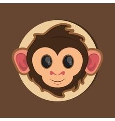 jungle monkey cartoon emblem vector image