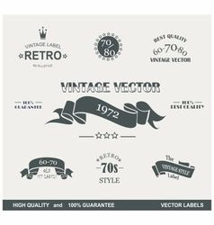 labels retro vector image vector image