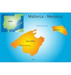Mallorca-Menorca vector image