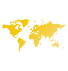 map of world yellow gradient silhouette vector image