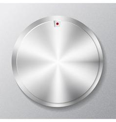 Metal round button multimedia vector image vector image
