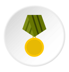 Military medal icon circle vector