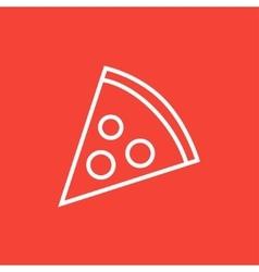 Pizza slice line icon vector