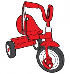 Red bicycle vector