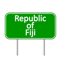 Republic of fiji road sign vector