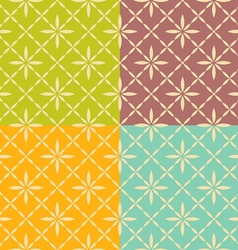 Seamless flower geometric pattern vector image