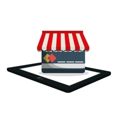 Shopping online e-commerce payment digital vector