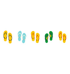 slippers icon set flat style vector image