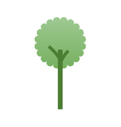 tree forest ecology environment symbol vector image