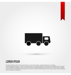 Truck icon Flat design style Template for desig vector image