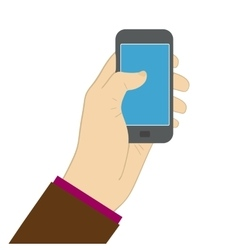 using smartphone screen flat vector image